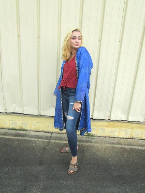 Vintage Silk Robe - image 3