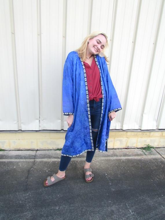 Vintage Silk Robe - image 2