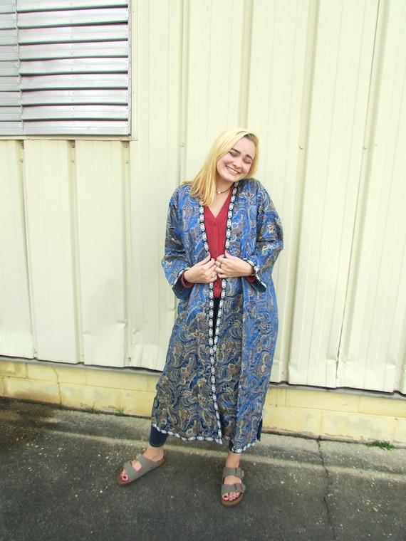 Blue Silk Robe - image 8