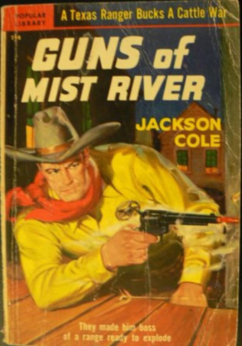 vintage paperback ... GUNS of MIST RIVER by Jackson Cole ... image 0