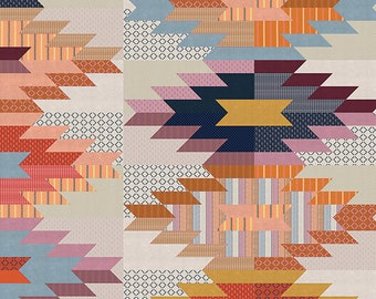 """Quilt Pattern - WEFTOVERS - Eye Candy Quilts - Scrap Friendly 80"""" by 80"""" Quilt"""