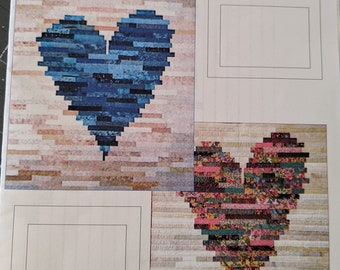 Quilt Pattern - HAVE A HEART - J. Michelle Watts - Jelly Roll Friendly - Two Sizes Included