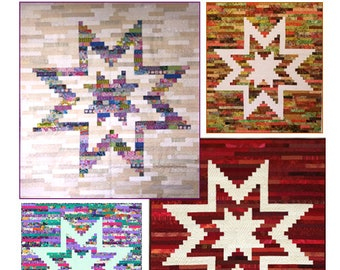 Quilt Pattern - STAR BRIGHT - J. Michelle Watts - Jelly Roll Friendly - Two Sizes Included