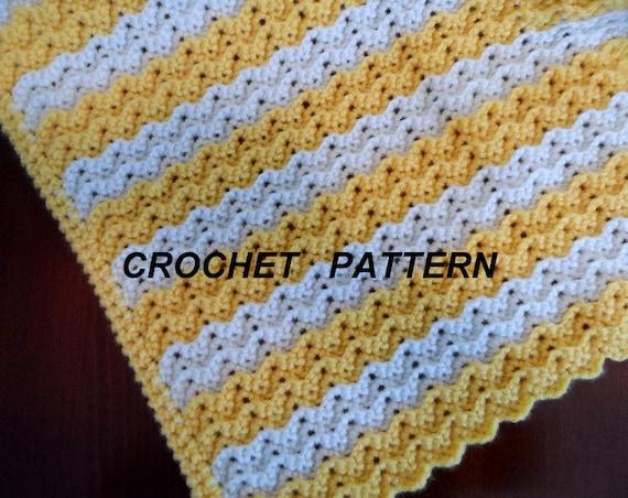 Baby Blanket Crochet Pattern Petite Ripple Afghan Crib Etsy