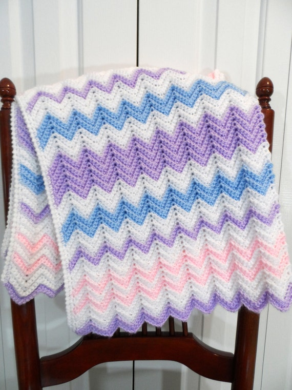 Baby Blanket Crochet Pattern Ripple Afghan Pattern Etsy
