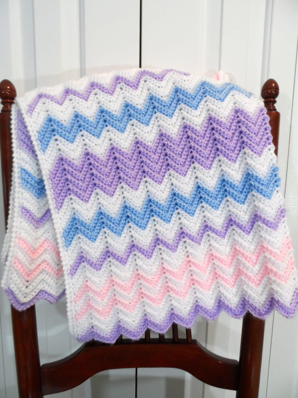 Baby Blanket Crochet Pattern Chevron Afghan Pattern Etsy