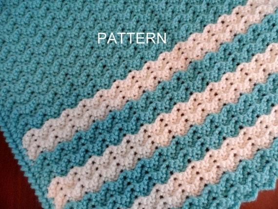 Baby Blanket Crochet Pattern Petite Ripple Toddler Afghan Etsy