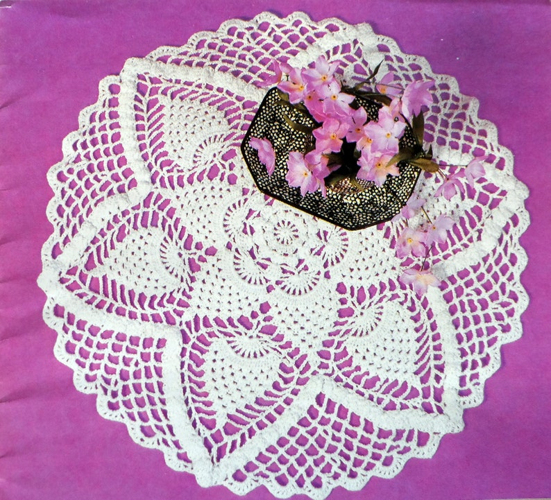 Pineapple Doily Pattern Crochet Lace Pattern PDF Pattern