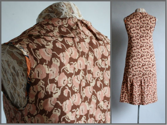 Vintage RARE 1920's 20s Crepe Silk Blush Pink / B… - image 2