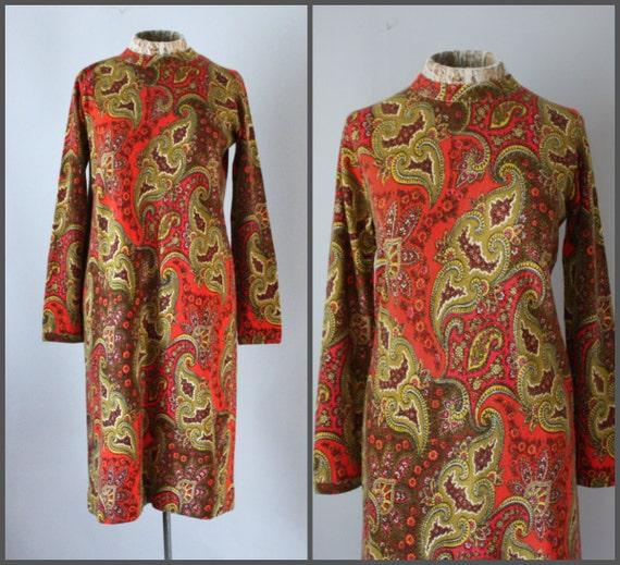 Vintage 60s Sweater Dress Mod Dress A Line Shift D