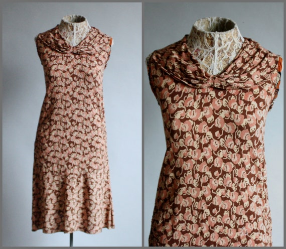 Vintage RARE 1920's 20s Crepe Silk Blush Pink / B… - image 1