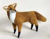 Fox Sculpture. Needle Felted Animal. Nursery Art. Needle Felted Fox. Fox Decor. Woodland Decor. Felted Animal. Fox Finger Puppet.
