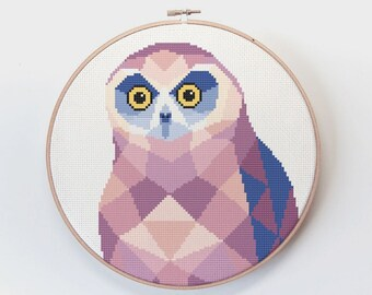 Cross stitch pattern, Owl cross stitch pattern, Ruru wall art, Bird cross stitch, New Zealand cross stitch, Kiwi cross stitch, Kiwiana art