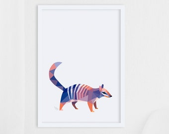 Numbat print, Numbat illustration, Numbat art, Australian wildlife, Marsupial art, Home decor, Natural history illustration, Fine art print
