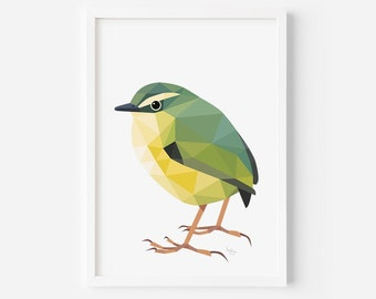 Rock Wren | New Zealand Art | Wren Print | Bird Art | New Zealand Birds | Kiwi Art | Kiwiana | New Zealand | New Zealand Animals Painting