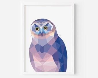 Ruru Print | New Zealand Owl | Morepork Art | Ruru Painting | Owl Illustration | Owl Art | New Zealand Native Birds | New Zealand Art | Art