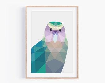 Kakapo Print | Kakapo Art | New Zealand Art | New Zealand Birds | New Zealand Wildlife | Kiwi Birds | Made in New Zealand | A6 A5 A4 A3 A2