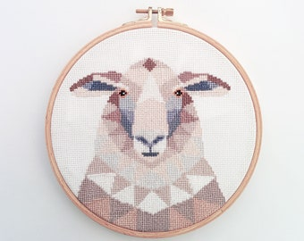 Cross stitch pattern, Sheep cross stitch, Animal cross stitch, New Zealand art, New Zealand cross stitch, Kiwi cross stitch, Sheep art