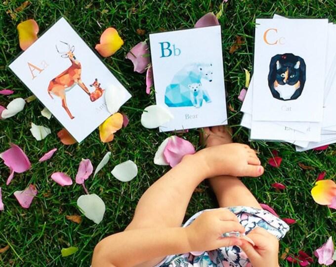 Alphabet wall art, Alphabet decor, Alphabet prints, Animal ABC set, Nursery alphabet set, Minimal nursery baby art, Alphabet illustrations