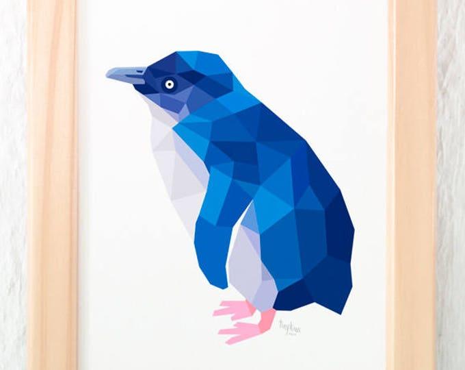 Little blue penguin, New Zealand penguin, Kiwi art, New Zealand birds, New Zealand wildlife, Penguin print, Fairy penguin, Little penguin