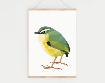 New Zealand art, Rock wren, Wren print, Bird art, New Zealand birds, Kiwi art, Kiwiana, New Zealand gift, Kiwi bird, New Zealand painting
