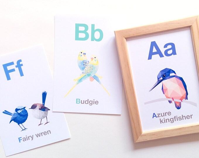 Alphabet art, Australian abc decor, Alphabet prints, Australian animal wall art, Alphabet art, Animal abc, Geometric abc, Nursery abc art