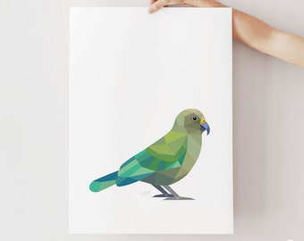 Kea print, New Zealand kea, New Zealand bird, New Zealand parrot, Kiwiana, New Zealand wildlife, New Zealand art, Kea poster, Kiwi print