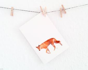 Dingo print, Dingo illustration, Dingo wall decor, Native Australian animal art, Australian dingo, Orange print, Australian wildlife art