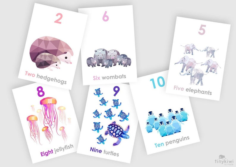 photograph about Printable Number Cards 1 10 identified as Amount playing cards, Quantity flash playing cards, 1-10 prints, 123 wall artwork, Alphabet artwork, Animal decor, Boy or girl enlightening artwork, Studying little one nursery artwork