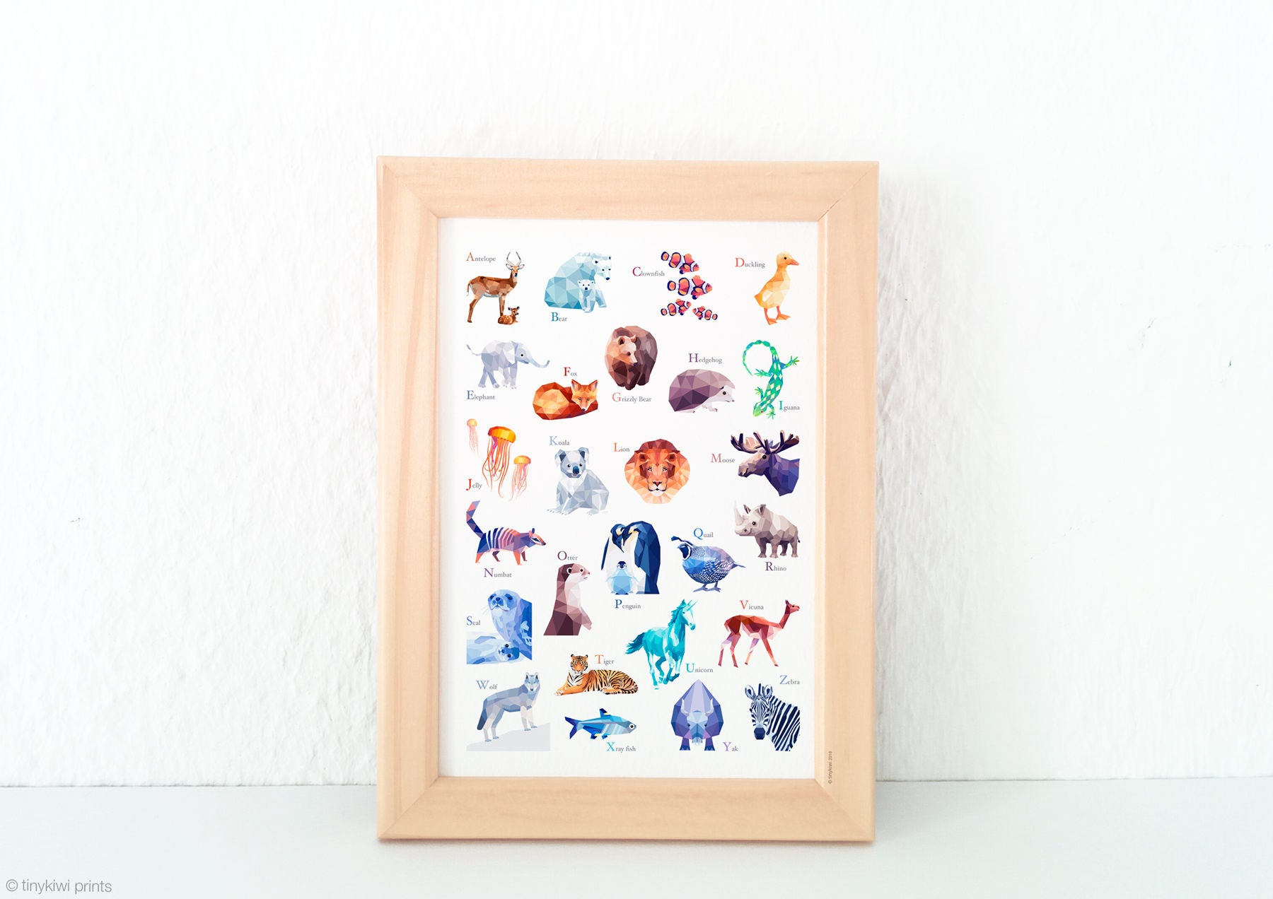 Alphabet Print, Nursery Decor, Animal Abc Print, Alphabet Poster, Alphabet
