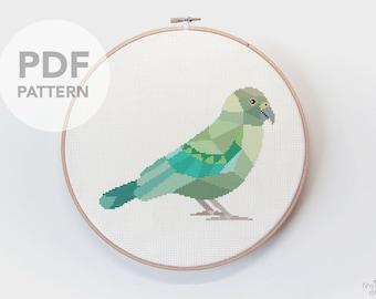 Cross stitch pattern, Kea cross stitch, New Zealand cross stitch, Cross stitch PDF, Kiwi art, Modern cross stitch, Kiwiana art, Kea gift