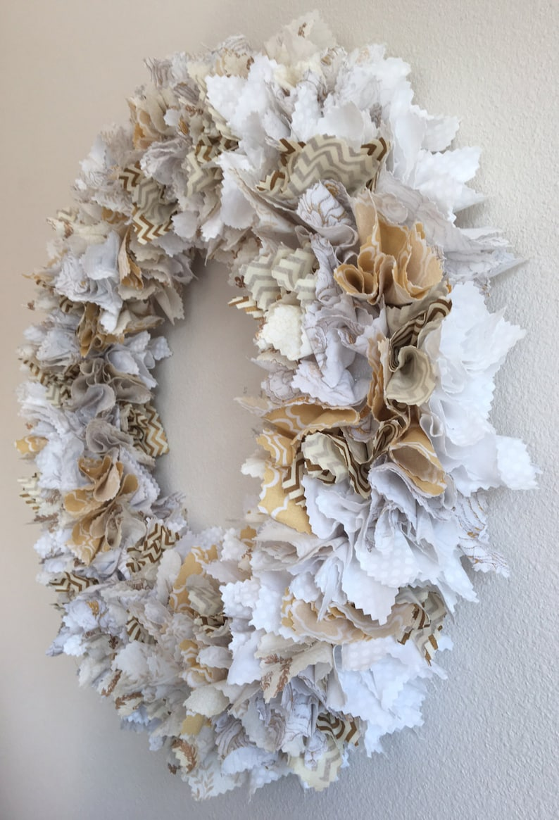 Shower Gift Wall Decoration Wedding Gift Fabric Flower Wall Wreath Wedding Wall Decoration