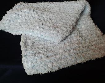 Super Soft light blue baby blanket