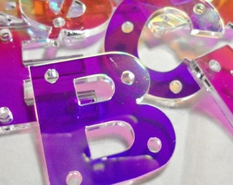 snapback letters,holographic,,laser cut letters,initial letters,name plates,acrylic names,letters