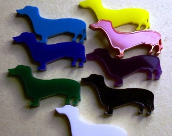 dachshund charms, dog charms, dog cabochons, little dogs, dachshunds, laser cut charms, cupcake toppers