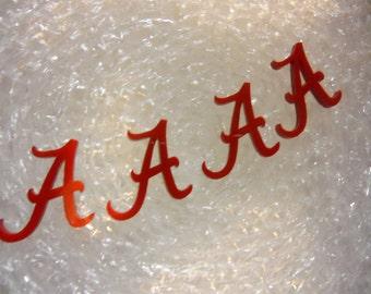 ALABAMA A charms,  letters, Crimson Tide University of Alabama letter A Alabama laser cut charms laser cut letters