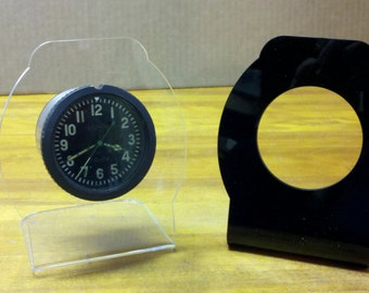 Aircraft clock stand -russian tank clock-ARCHED or SQUARED stands  clock stands-laser cut