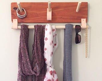 Wall Organizer - Coat Rack - Jewelry Organizer -