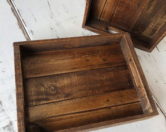 Rustic Tray - Stained