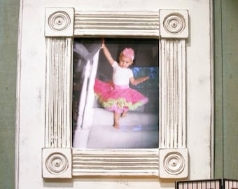 Distressed large handmade picture frame.  Great Gift Idea Nursery - Family Room.
