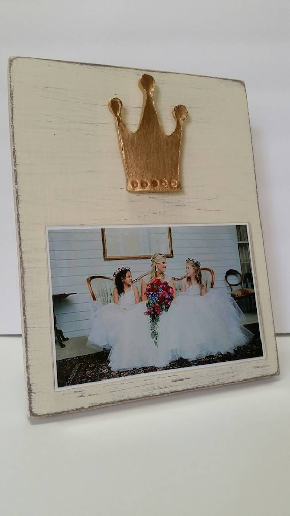 Handmade Wood Frame 4x6 Photo Painted Off White Distressed Etsy