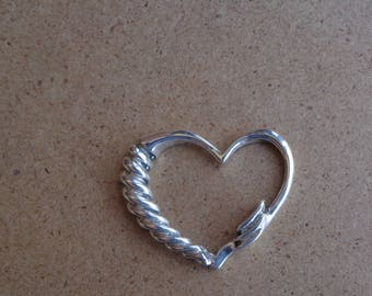 Sterling silver .925 Floating Heart pendant.