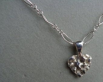 Silver .925 heart with silver chain,