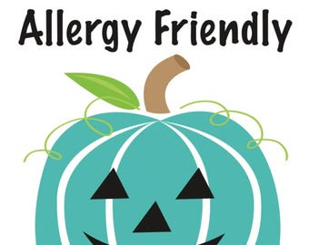 halloween teal pumpkin project - allergy friendly treats sign - instant download