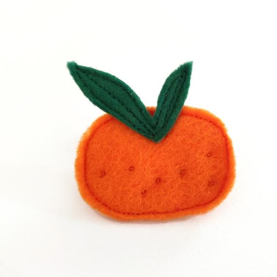 tangerine brooch