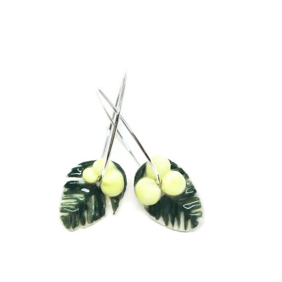 Porcelain Mimosa  earrings