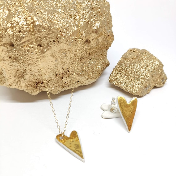 Gold heart set / sold separately