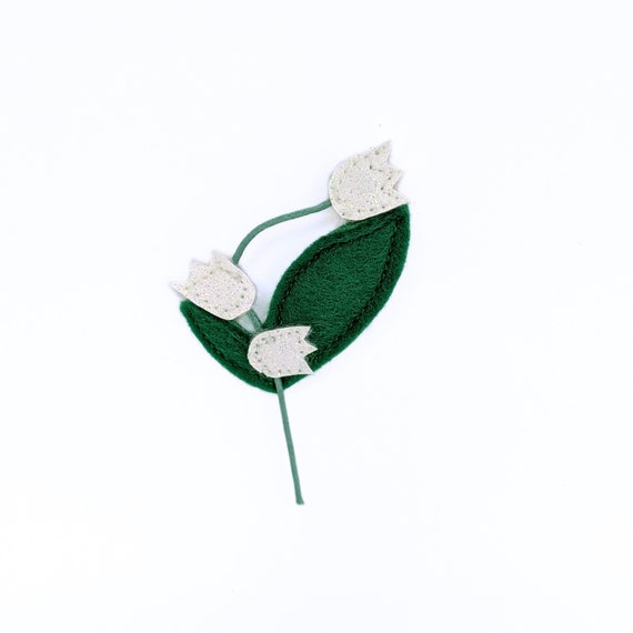 lucky charm  Lily of the valley brooch