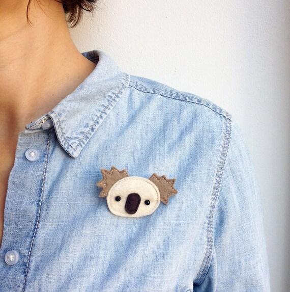 Cute koala felt brooch