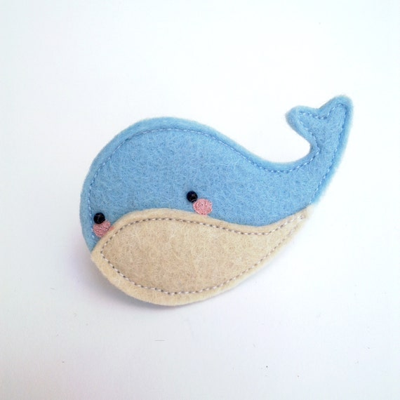 whale brooch